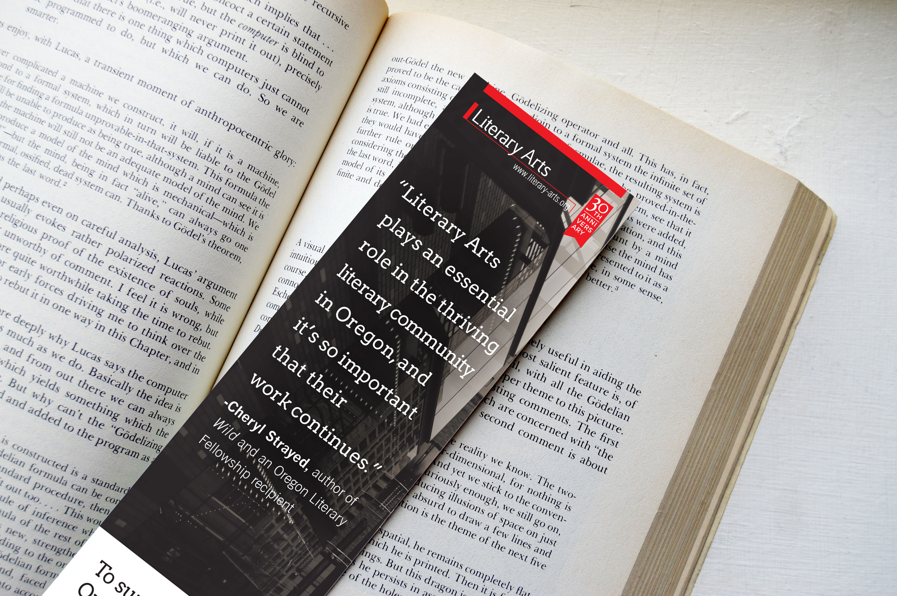 Literary Arts bookmark