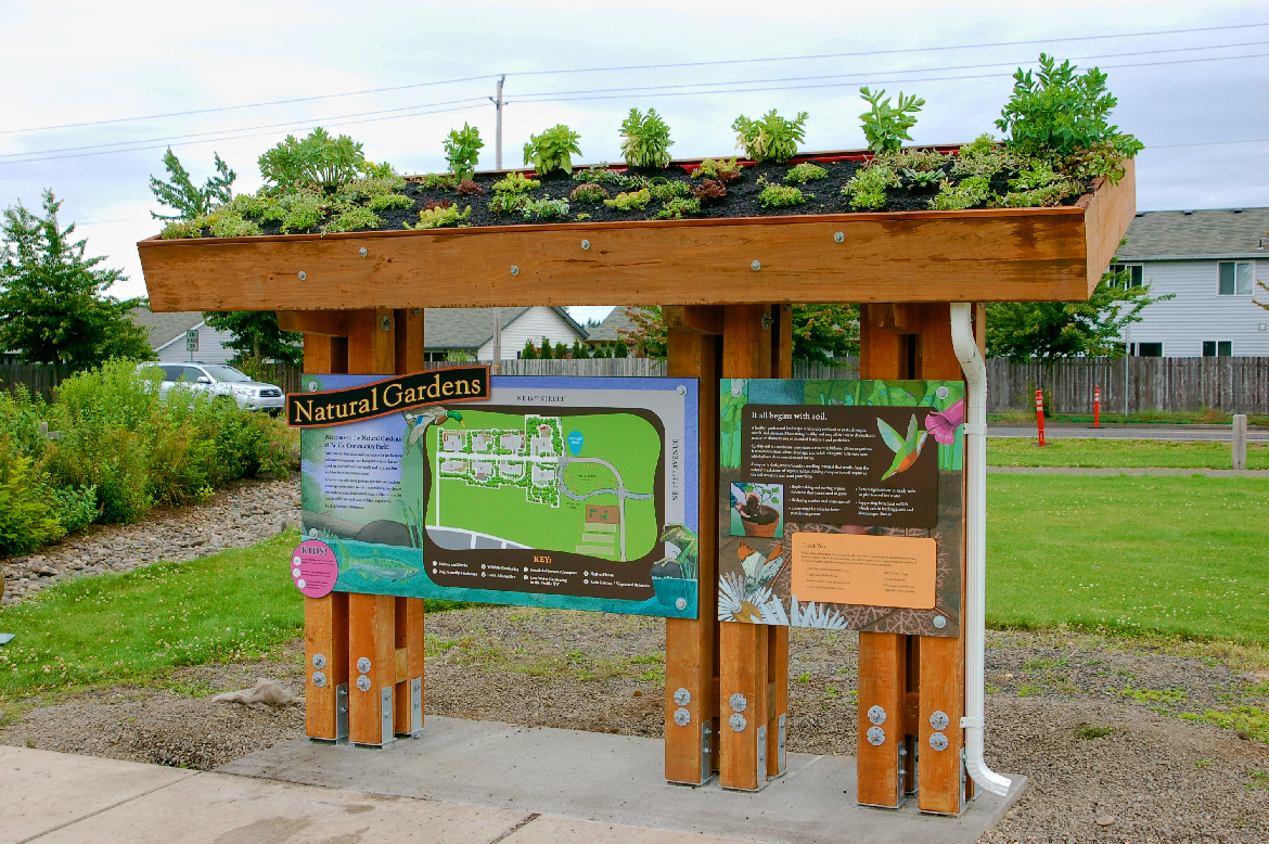 Pacific Community Park Natural Gardens Signage